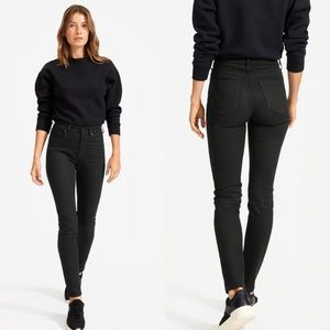 Everlane High Rise Skinny Jean Black 27 Regular